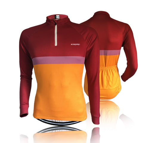 2019 New quality PRO TEAM CYCLING JERSEY LONG Sleeve Cycling Clothing Thin style  Ropa Ciclismo Factory 02-104