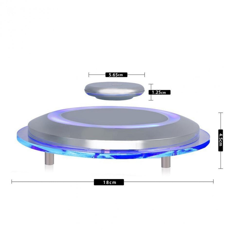 1 PC Rotating Platform Magnetic Levitation Platform LED Maglev Rotating Ion Revolution Platform Plataforma giratoria