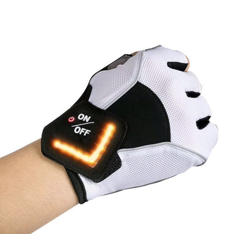 Intelligent LED Turn Signal Warning Light Outdoor Riding Gloves Men Women Bicycle Cycling Outfit Tactical Gloves for Road Bike