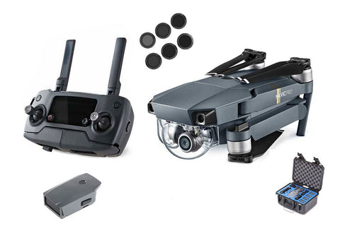 DJI Mavic Pro Drone Bundle Pack - 1 Extra Battery, Hard Case, PolarPro Camera Filters - DRONECLOTHES