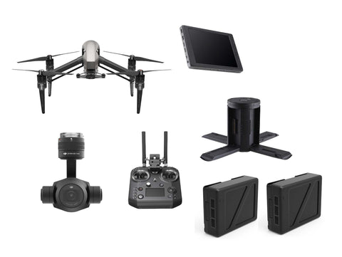 "DJI Inspire 2 Bundle - Cendence Remote, 7.85"" CrystalSky Monitor, Zenmuse X4S, Charger, 2 TB50 Batteries - DRONECLOTHES"