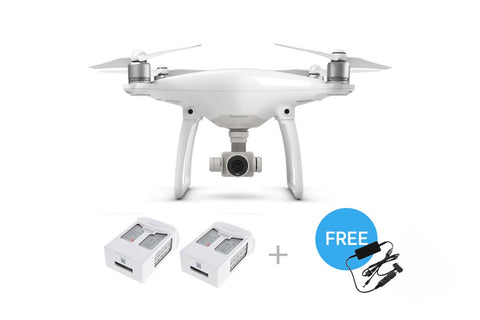 DJI Phantom 4 Quadcopter + 2 Extra Batteries + Car Charger - DRONECLOTHES