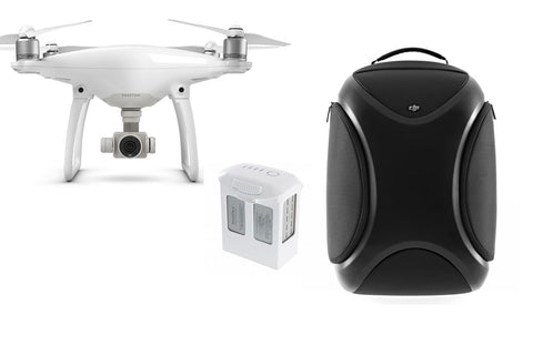 DJI Phantom 4 Quadcopter + Extra Battery + Multifunction Backpack - DRONECLOTHES