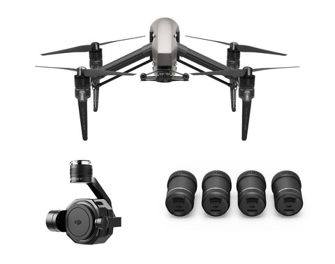 DJI Inspire 2 with Zenmuse X7 & 4-Lens Pack Ultra Bundle - DRONECLOTHES