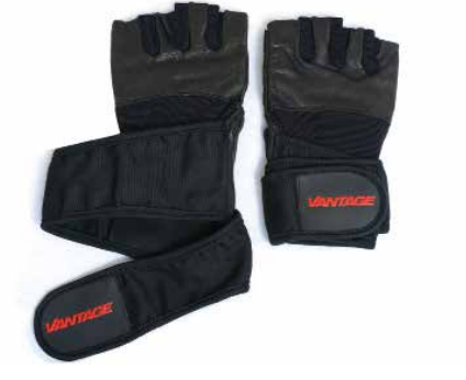 Vantage Equipment - Gym Gloves Support Plus Black - Extra Large
