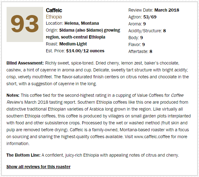 Coffee Review March 2018: Top 5