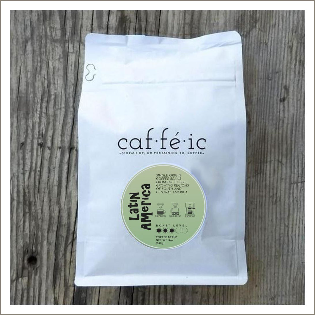 Latin America Single Origin Coffee Beans - 12oz bag - Caffeic Coffee Roastery