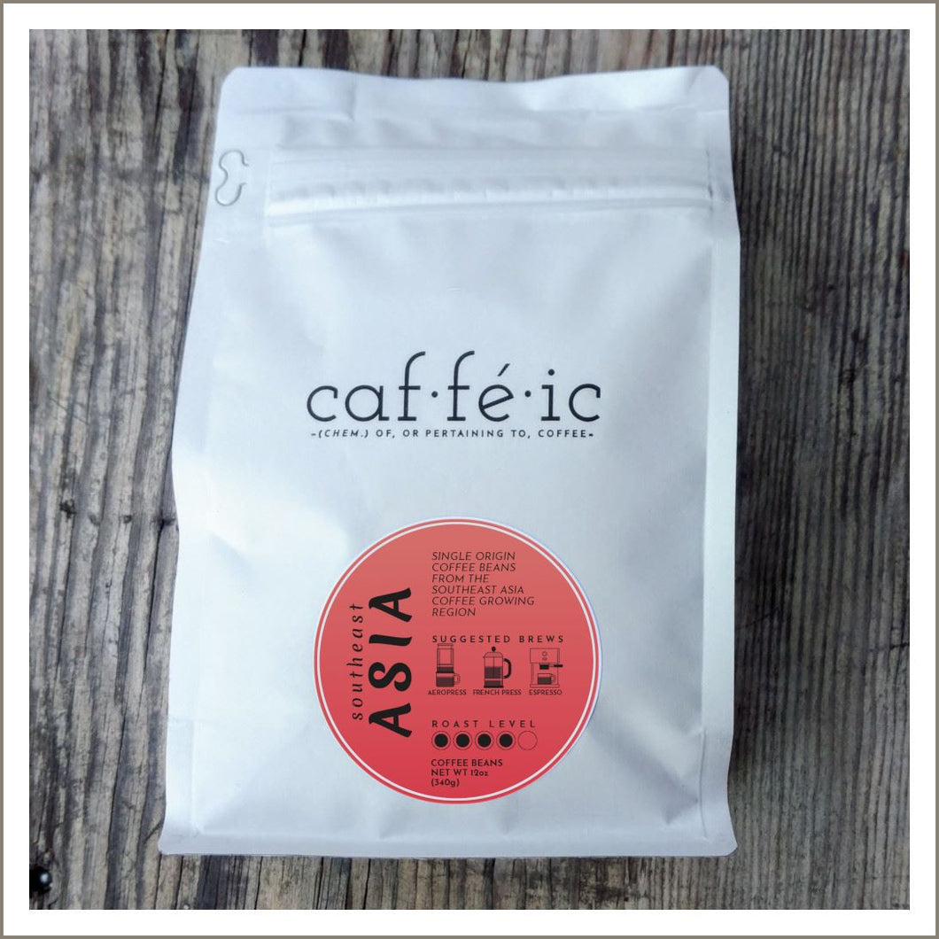 Southeast Asia Single Origin Coffee Beans - 12oz bag - Caffeic Coffee Roastery