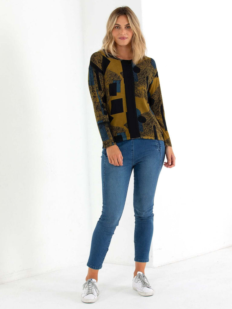 Marco Polo Abstract Lake Sweater YTMW13266