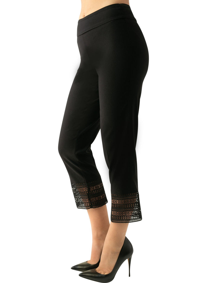 Up 25 Inch Crop Black Pant 66681UP