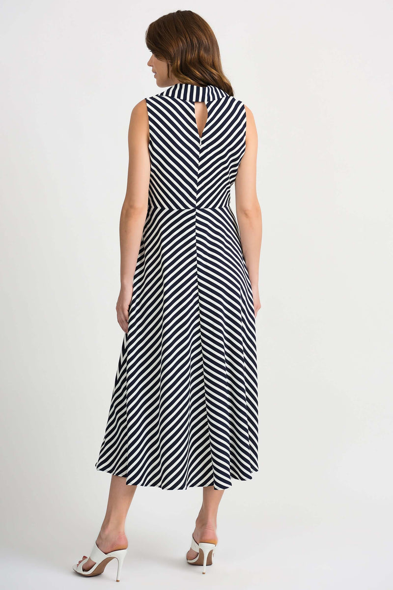 Joseph Ribkoff Navy and White Striped Dress 201340 (4501799993429)