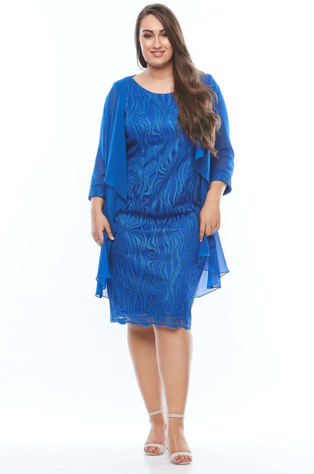 Layla Jones Electric Blue Dress & Jacket LJ0307