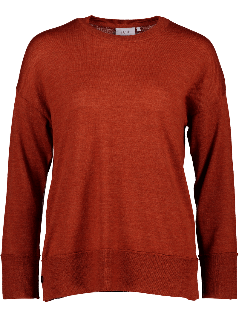 Foil Mr Brightside Sweater in Marsala FO6216