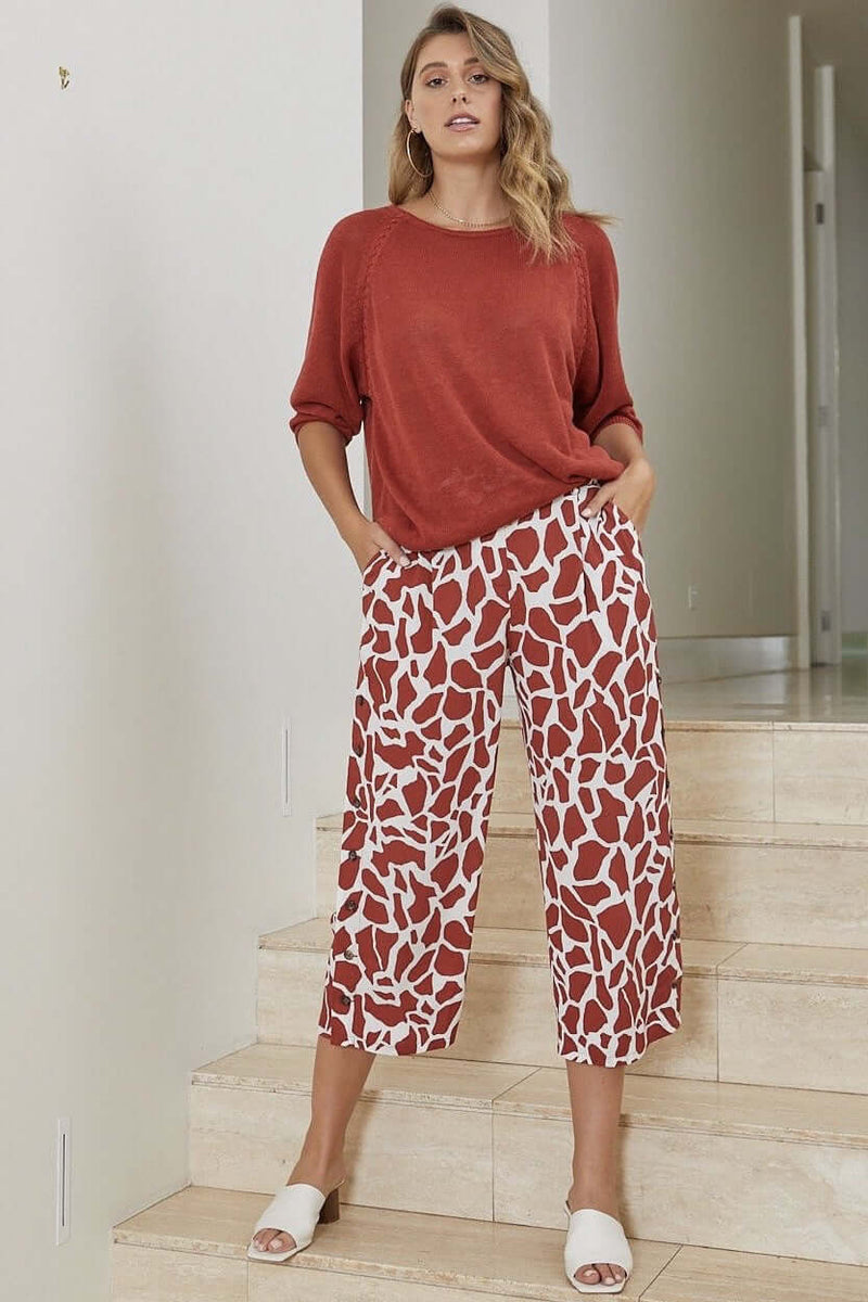 Ping Pong Red Earth & Ivory Culotte 495709