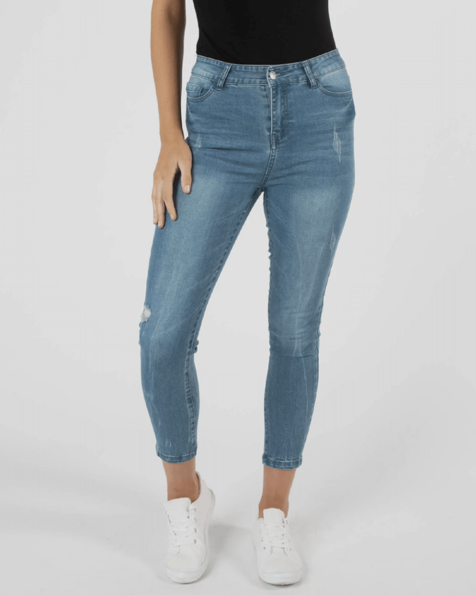 Betty Basics Hadley Hi-Rise Jeans in Mid Blue BB835W21