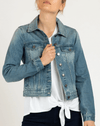 Betty Basics Quinn Denim Jacket in Vintage Wash BB866W21
