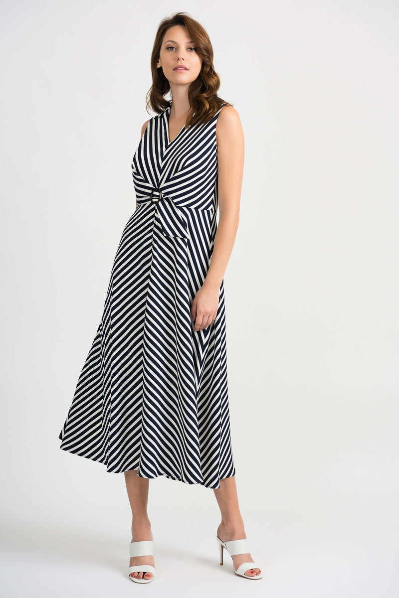 Joseph Ribkoff Navy and White Striped Dress 201340