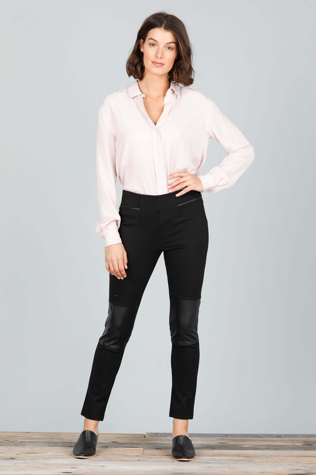 Brave + True Cleo Black Faux Leather Pant BT4615 (4545326973013)