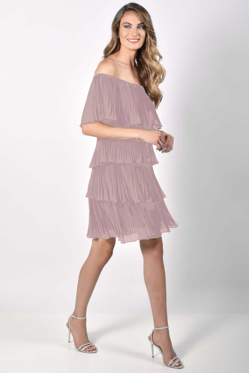 Frank Lyman Tiered Blush Dress 218157