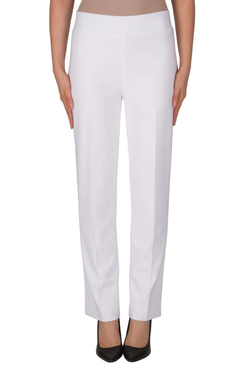 Joseph Ribkoff White Back Split Pants 143105