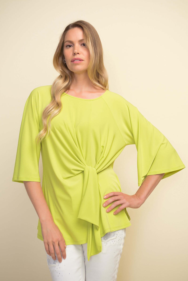 Joseph Ribkoff Tie Front Lime Top 211263
