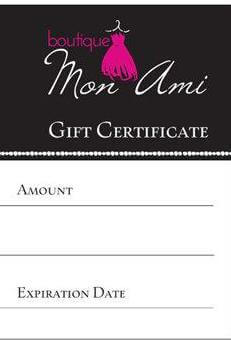 Boutique Mon Ami GLYNDE Gift Voucher - ONLINE ONLY