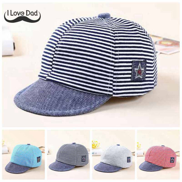 734934fa1ca Summer Cotton Baby Hats Cute Casual Striped Soft Eaves Baseball Cap Baby  Boy Beret Baby Girls