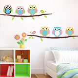 Cute Children's Bedroom Owl Wall Decal