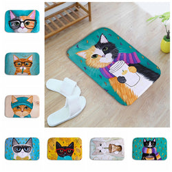 Adorable Printed Cat Floor Mats