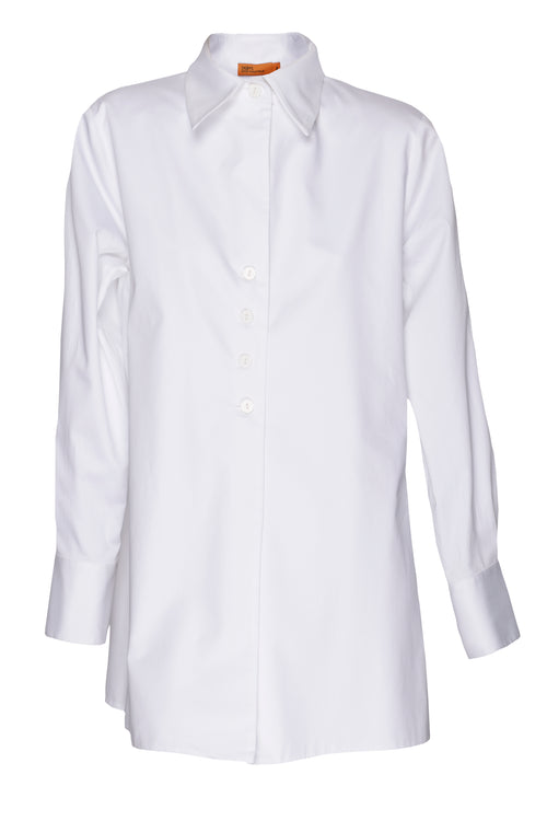 White 4 Button Shirt 2241