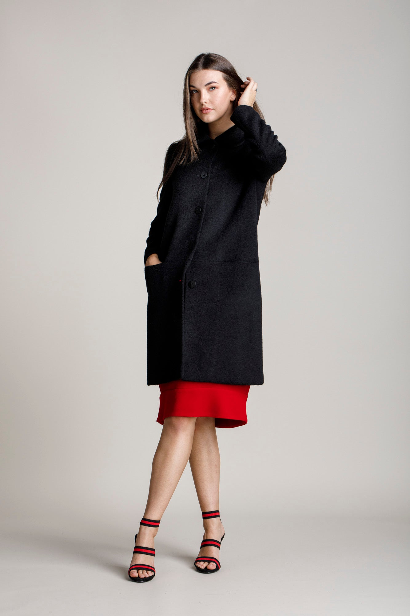 Black Hip Pocket Coat 5272 Sizes 12&16 Only