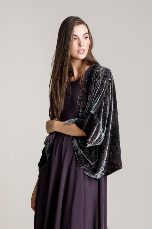 Gunmetal Devorie Velvet Extended Cover-Up 5207
