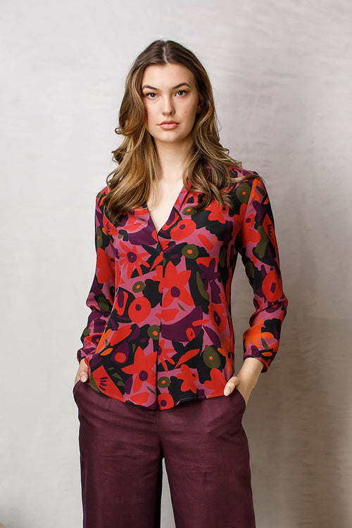 Berries V Neck Shirt 6279
