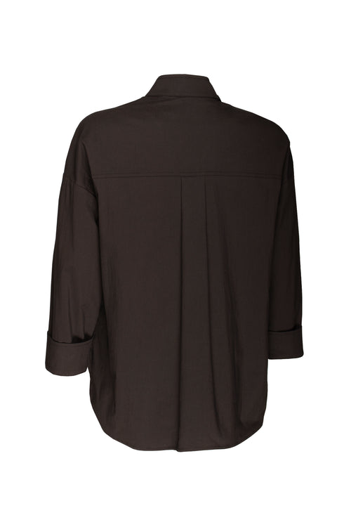Black Nauru Collar Shirt 8234