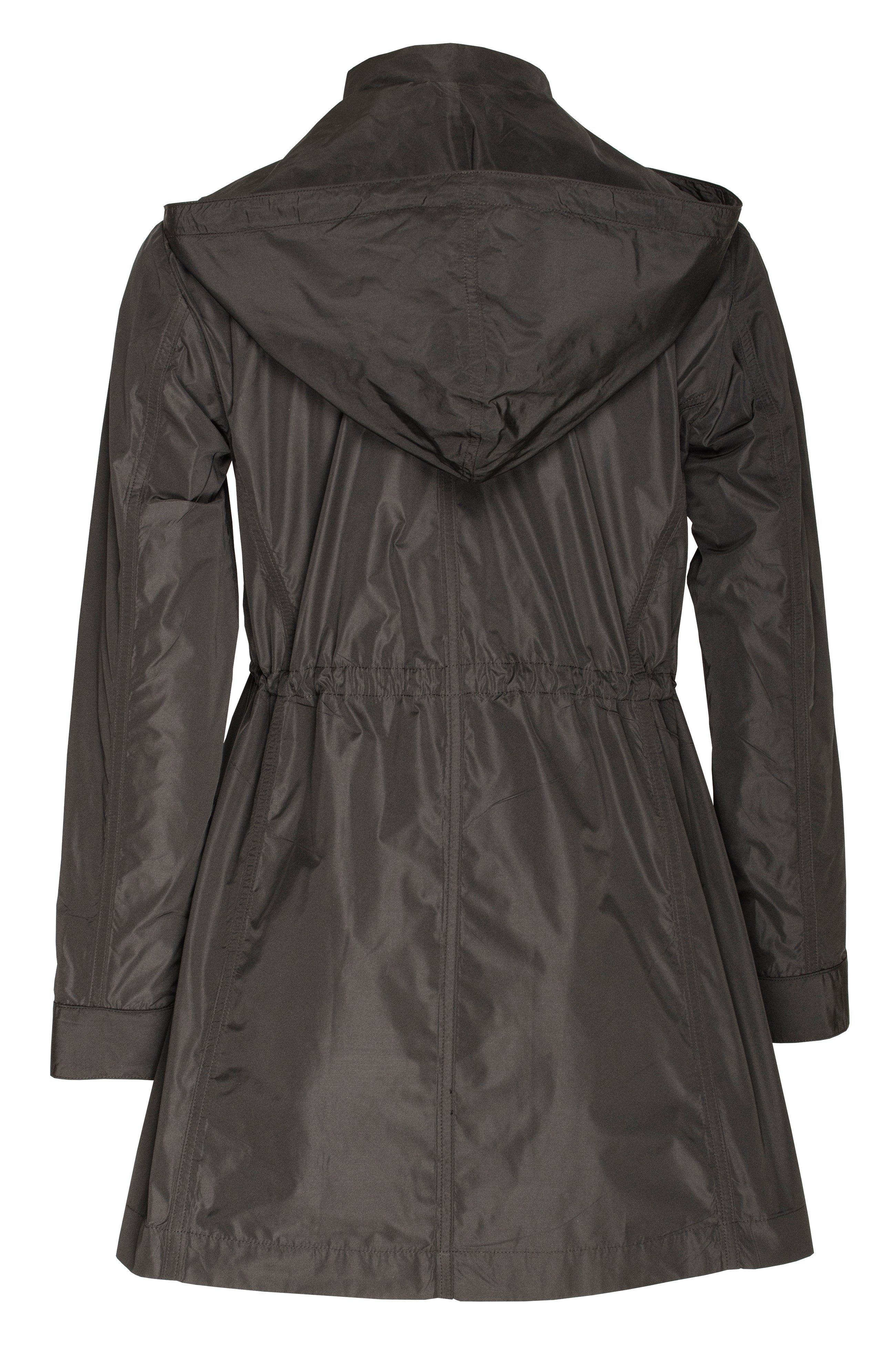 Black Detachable Hood Trench 6256