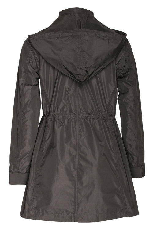 Black Detachable Hood Trench 7252