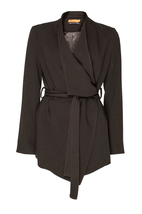 Black Extended Lapel Jacket 5224