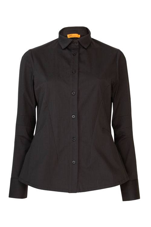 Black Cotton Extra Darts Shirt 8203