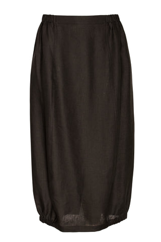 Black Linen Tucked Cap Sleeve Dress 6268