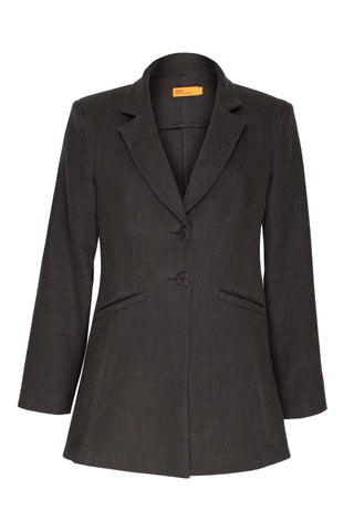 Black High Button Classic Jacket 8204