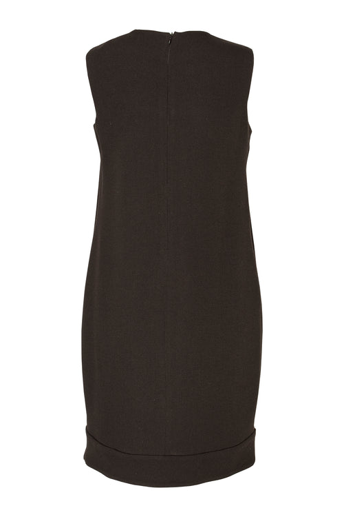 Black Wool Narrow Panel Hem Shift 5222