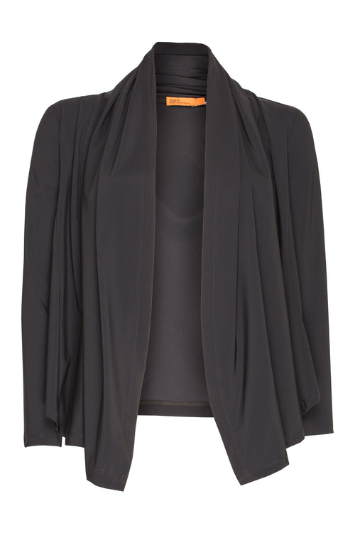 Black Jersey Wrap Duster 5266