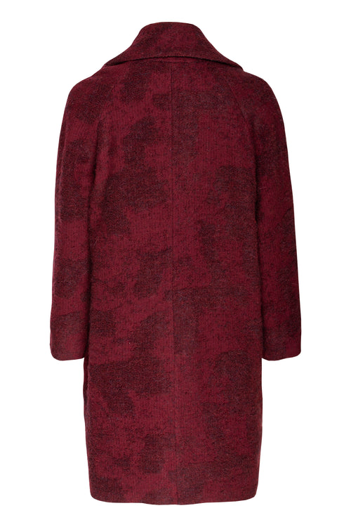 Bordeaux Side Zips Cocoon Coat 7212