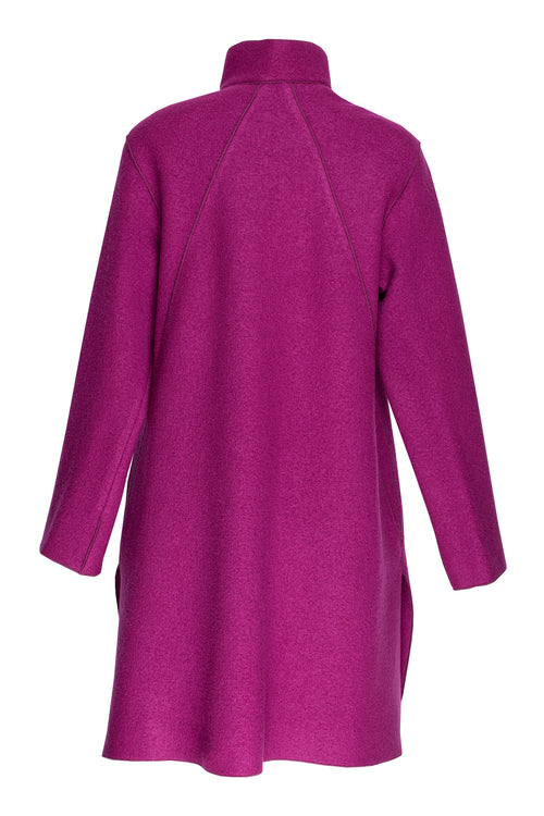 Cerise Wool Coat