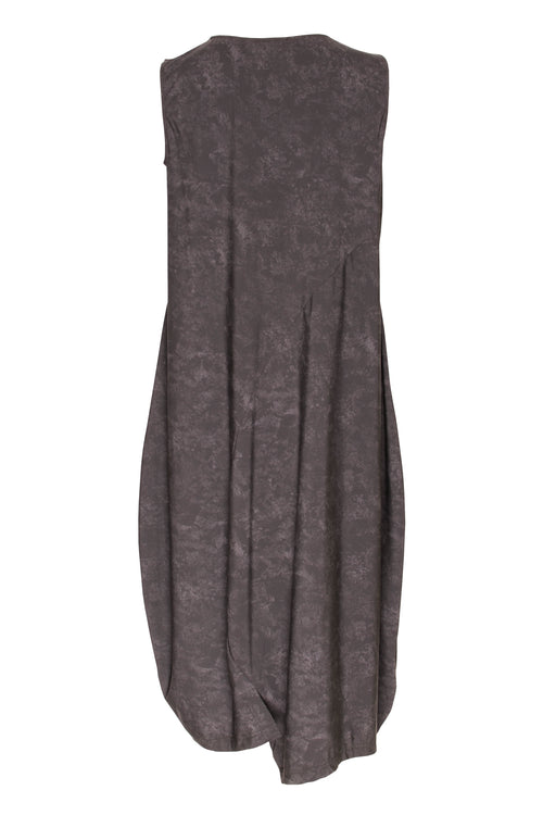 Charcoal Asymmetric Panel Singlet Dress 5200