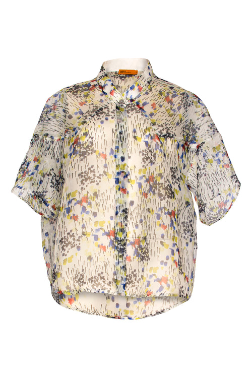 Confetti Drop Shoulder Shirt 4229