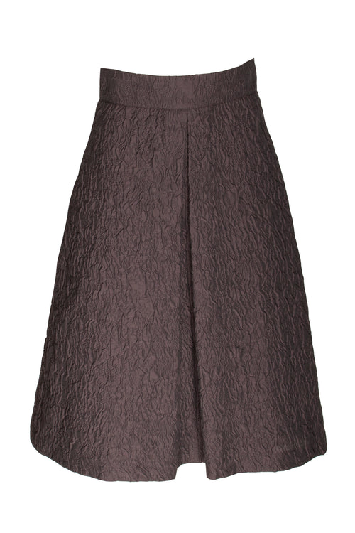 Aubergine Front Pleat Skirt 9229