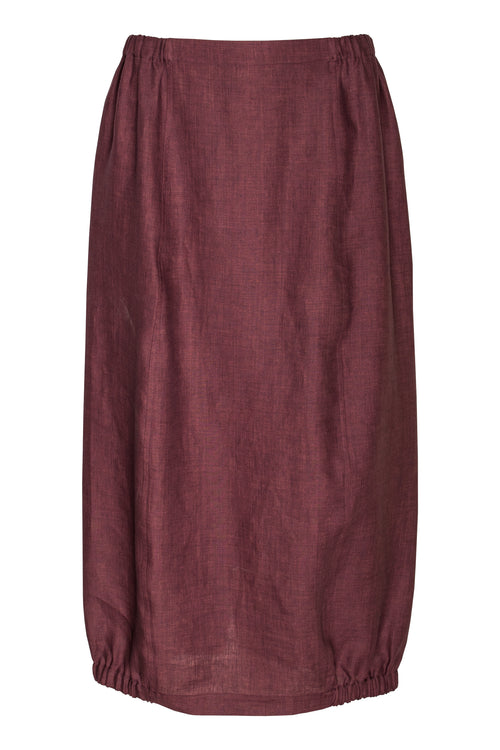Fig Linen Elastic Hem Skirt 6269