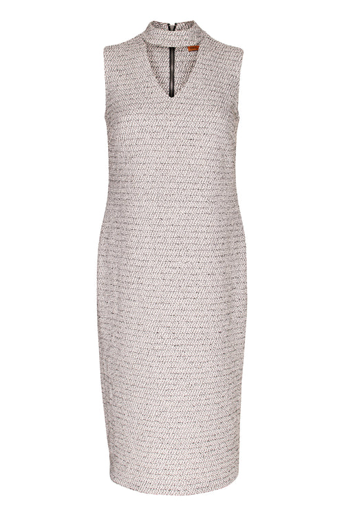 Granite High Neck Cut Out Dress 4251