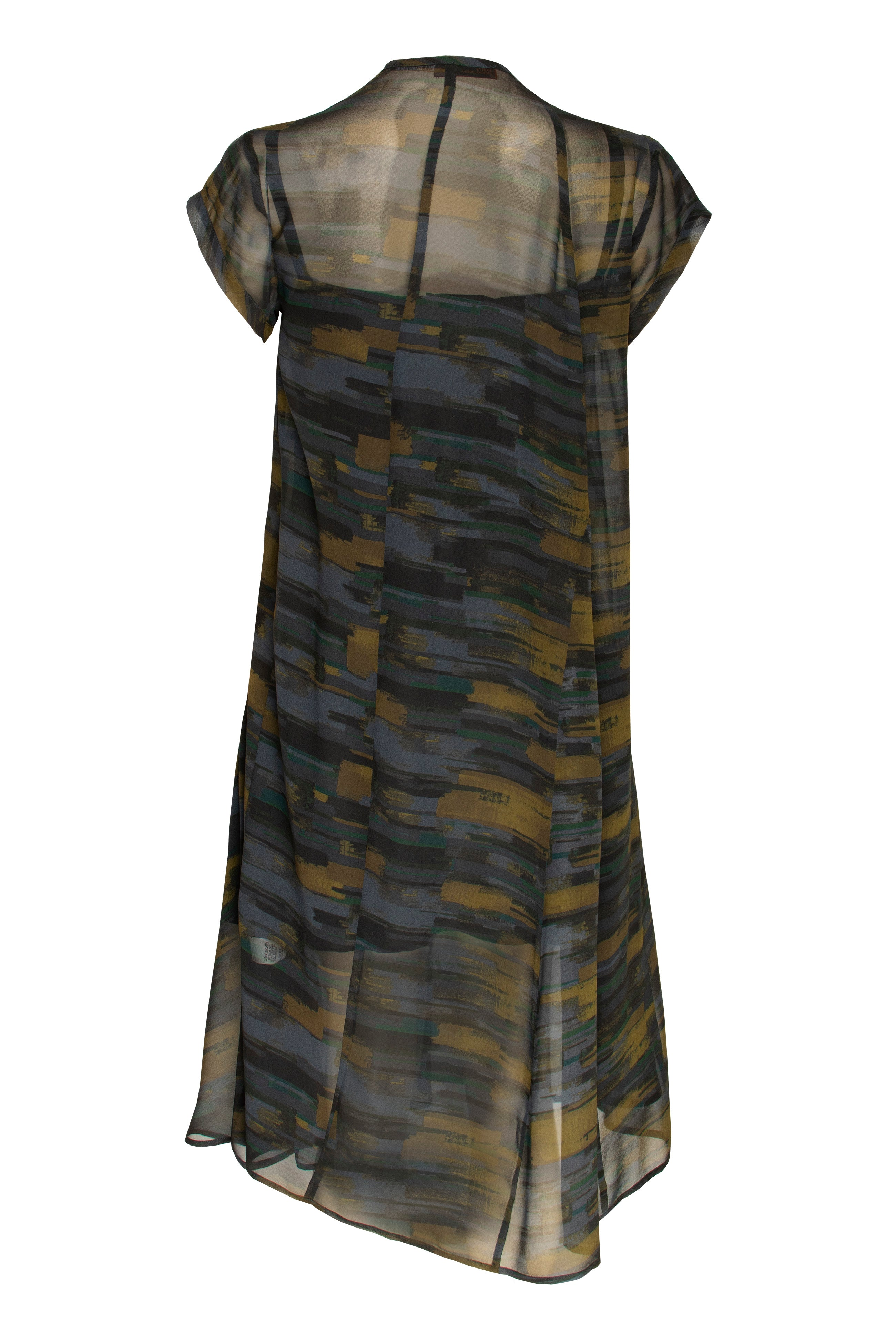 Olive Sheer Soft Seamed Dress 8215